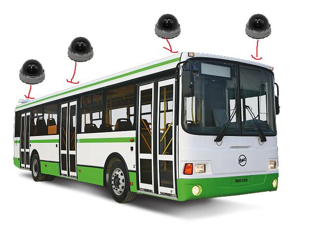 Принцип установка камер в автобус