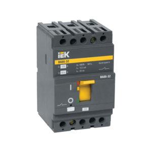 Автомат выключатель силовой IEK ВА88-32 3P 50А 25кА