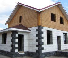 Отделка дома из газобетонных блоков: 4 способа