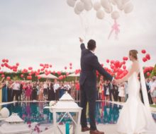 Оформление свадьбы шарами может быть еще и стильным